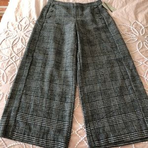 Zara Cropped Wide Leg Pants